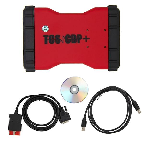 Promotion 2015.3 New TCS CDP+  Auto Diagnostic Tool Red Version Without Bluetooth