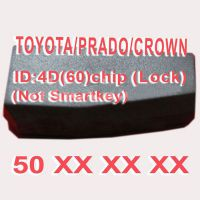 4D(60) Duplicabel Chip 50xxx (Not Smart Key) for Toyota/Prado/Crown 10pcs/lot