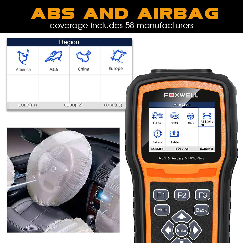 Foxwell NT630 Plus ABS & Airbag Reset Tool with SAS Calibration