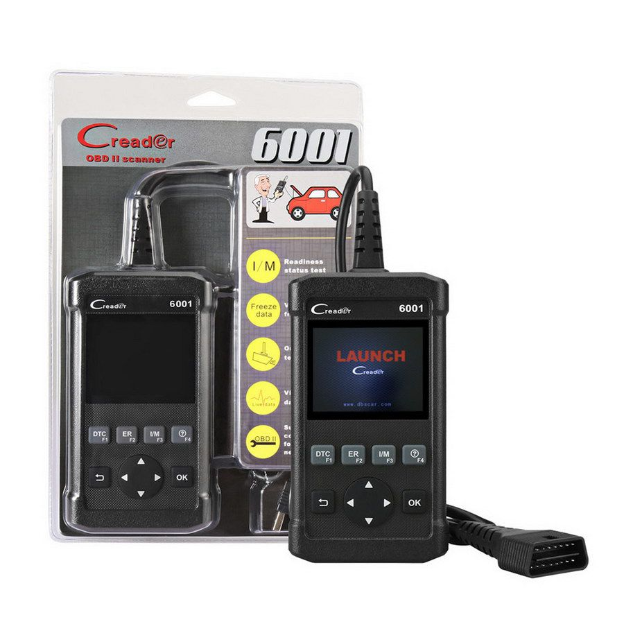 Launch CReader 6001 Full OBDII OBD2 functions Support O2 Sensor Test