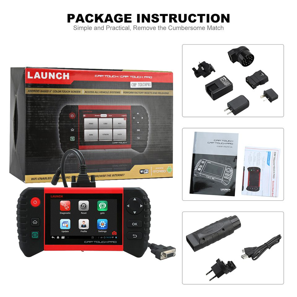 package of Launch CRP Touch /Touch Pro