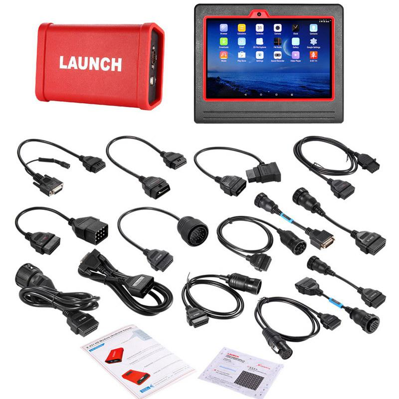 Original Launch X431 V+ Wifi/Bluetooth HD Heavy Duty Truck Diagnostic Module Free Update Online for 1 Year