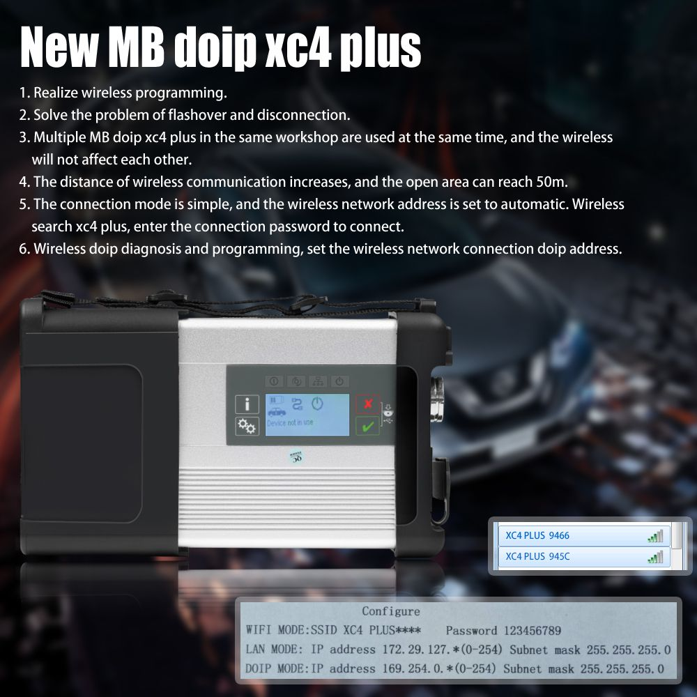 MB SD C5 BENZ C5 DOIP Star Diagnosis with Wifi for Cars and Trucks in Carton Box No Software