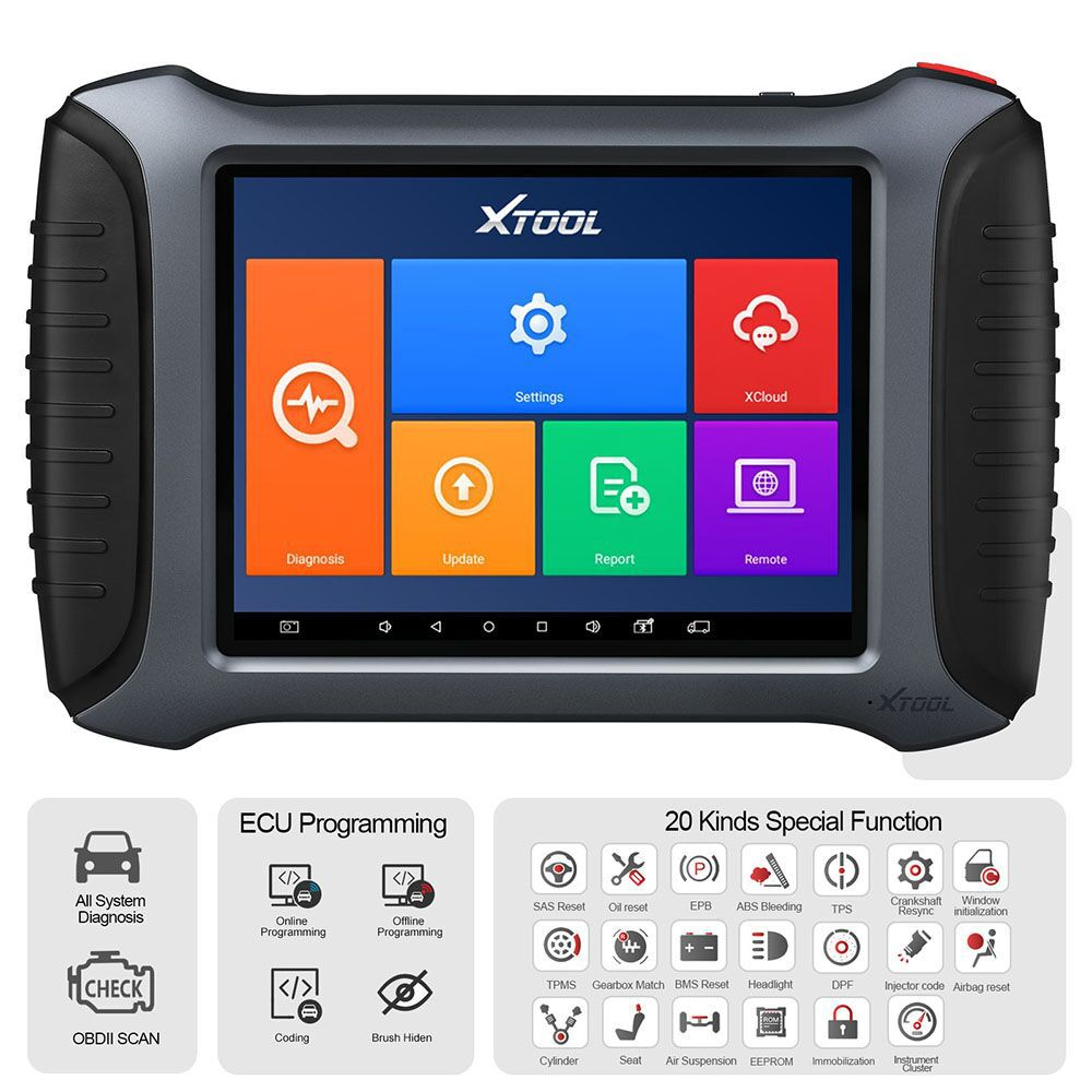 XTOOL A80 Pro H6 Pro Full System Diagnosis Tool with Key Programming/ECU Programming/Special Function Compatible with KC501/KS-1/KC100