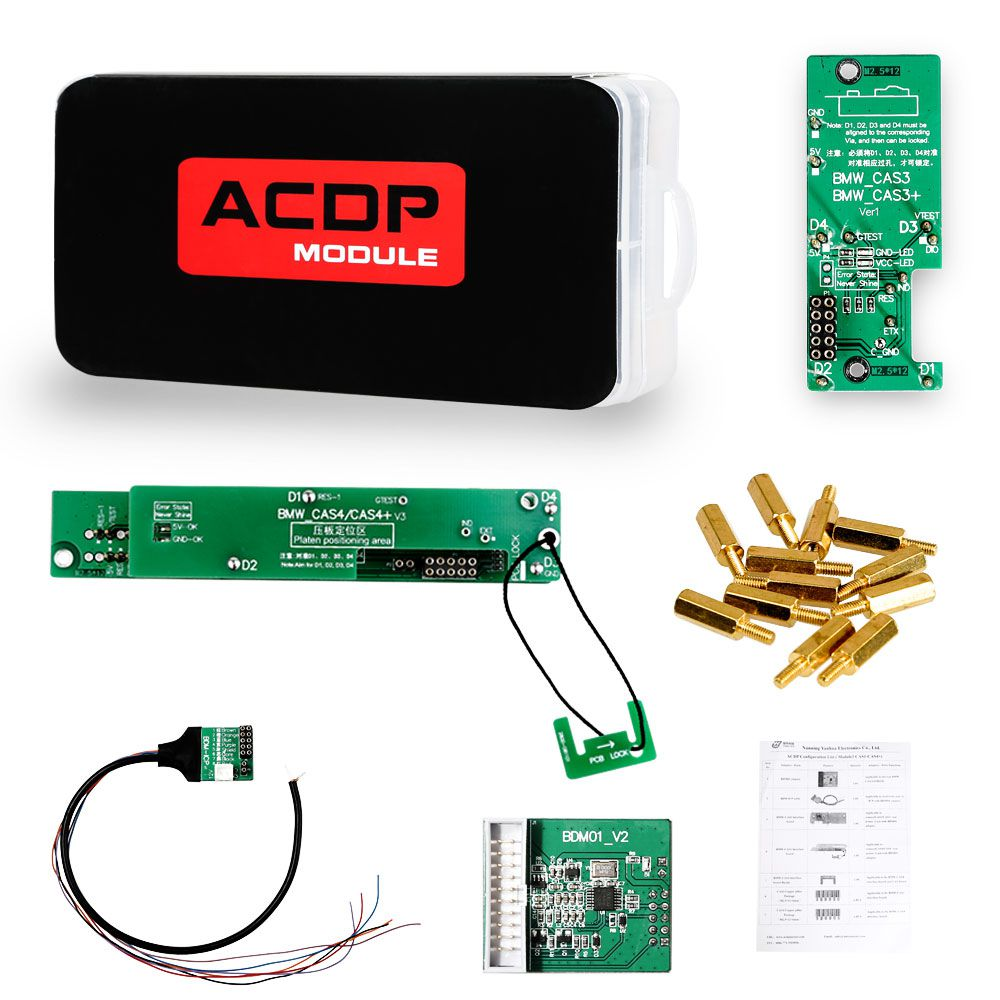Yanhua Mini ACDP Module1 BMW CAS1-CAS4+ IMMO Key Programming and Odometer Reset Newly Add CAS4 OBD Function