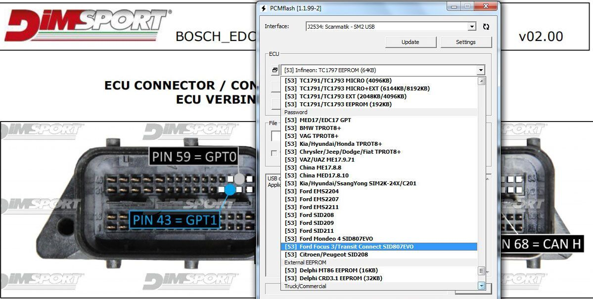 KTM BENCH ECU Programmer Software