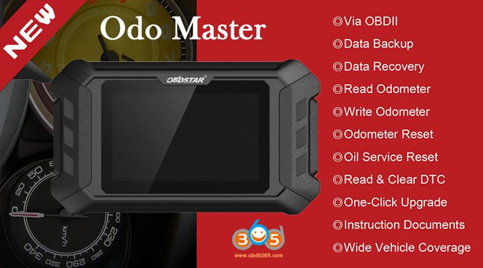 OBDSTAR ODOMASTER supported function
