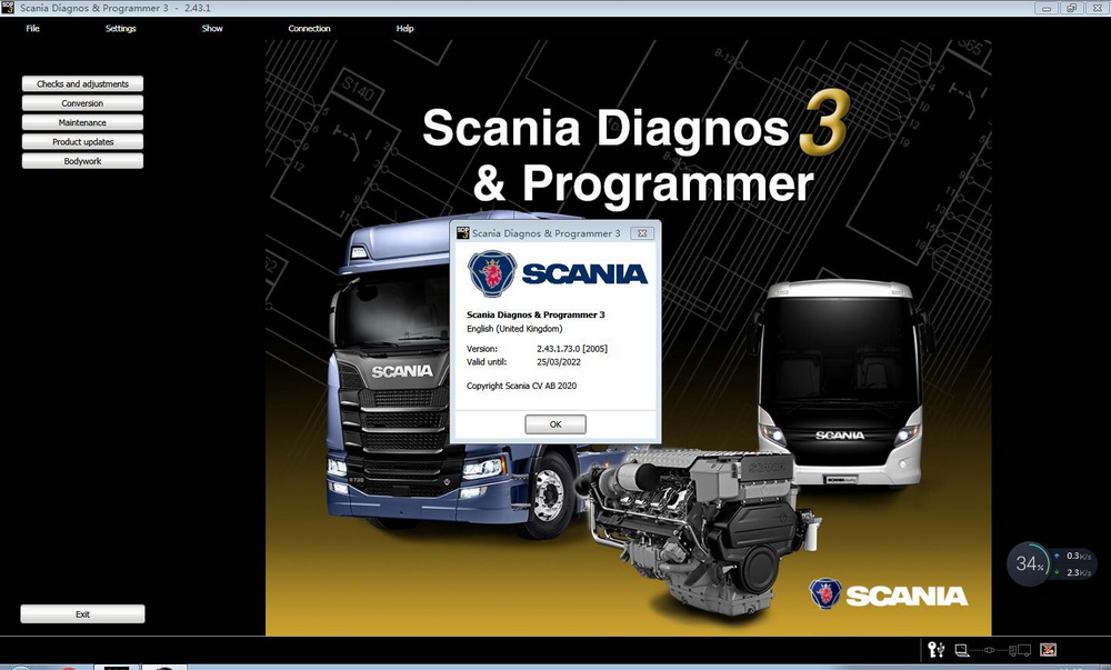 V2.43 Scania SPD3 for VCI-3 VCI3 Scanner